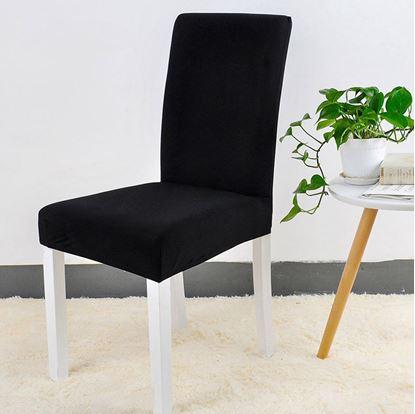 Obrázek Potah na židli - černý - 4 ks