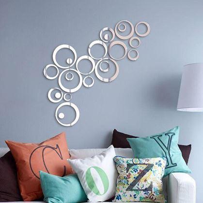 Obrázek z Nálepky na zeď/zrcadlo - kruhy