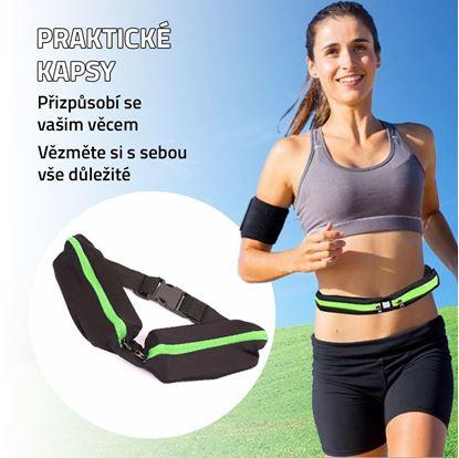 Obrázek Sportovní ledvinka slim - zelená