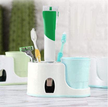 Obrázek Koupelnový držák s dávkovačem pasty
