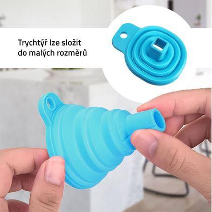 Obrázek z Skládací silikonový trychtýř