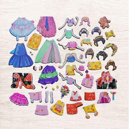 Obrázek z Dřevěná magnetická tabulka deluxe - Princezna