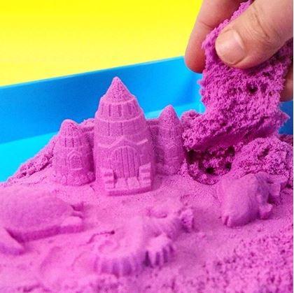 Obrázek z Tekutý kinetický písek střední set 1000 g - plastový kyblík