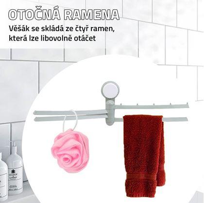 Obrázek z Otočný věšák na ručníky - zelený