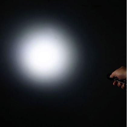 Obrázek z Teleskopická baterka - stříbrná