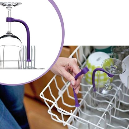 Obrázek Držák skleničky do myčky 4 ks