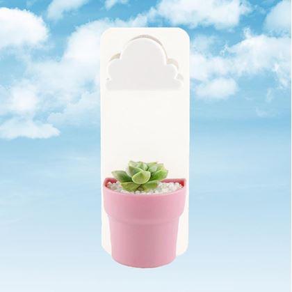 Obrázek z Květináč s mráčkem - růžový 3 ks