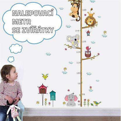 Dětský metr na zeď nalepovací