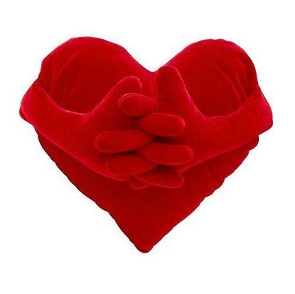 Obrázek Polštář - srdce s rukama