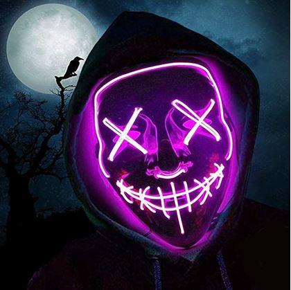 Obrázek z Děsivá svítící maska - růžová