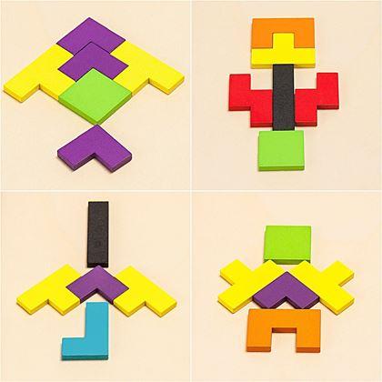 dřevěné 3d puzzle