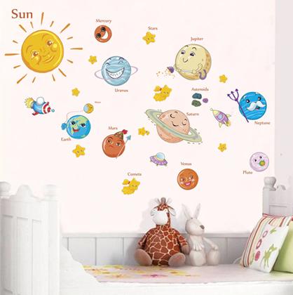 Samolepky na zeď - Sluneční soustava