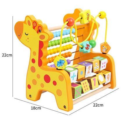 Dřevěné počítadlo pro děti