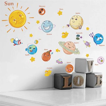 Samolepka na zeď - Sluneční soustava