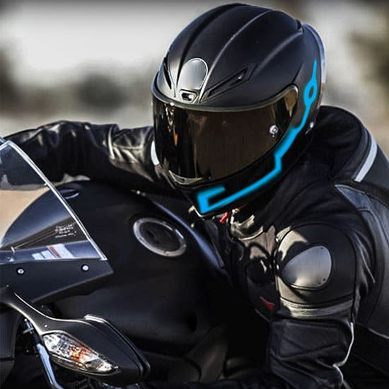 Obrázek z Svítící pásky na helmu