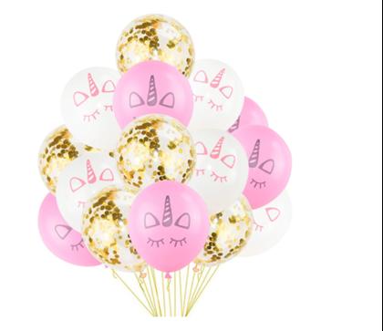 Obrázek z Nafukovací balónky - jednorožec 15 ks
