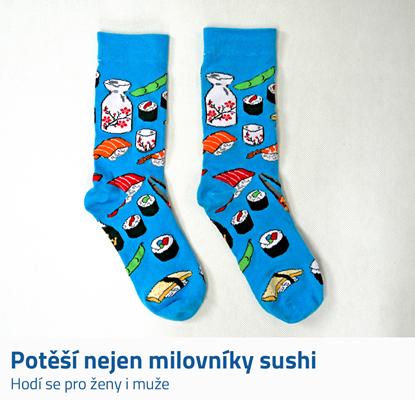 Barevné ponožky sushi