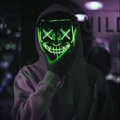 Svítící maska