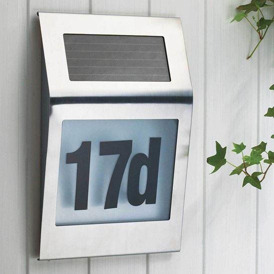 solární osvětlení čísla domu