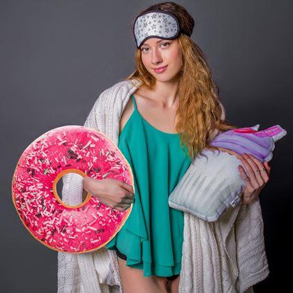 kulatý polštář donut