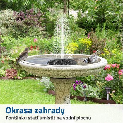 solární zahradní fontána
