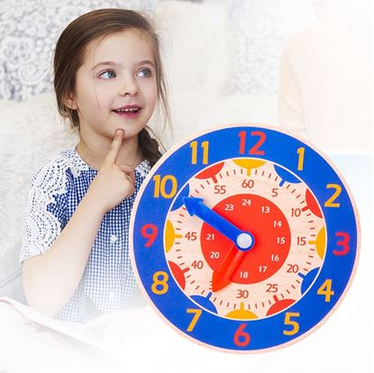 dřevěné dětské hodiny